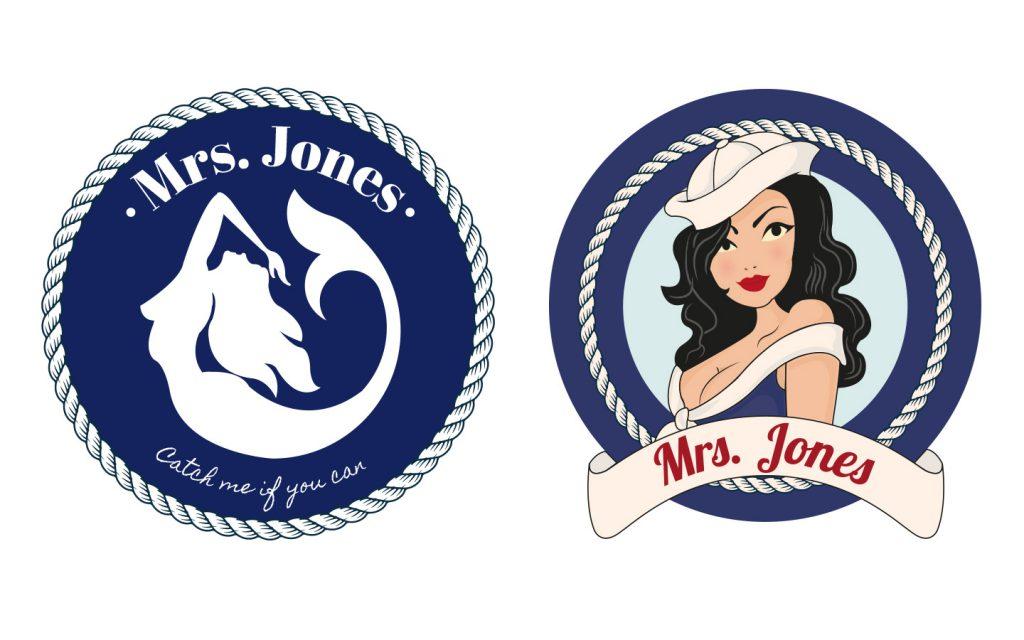 Uitwerking, logo, digitaal, Mrs Jones