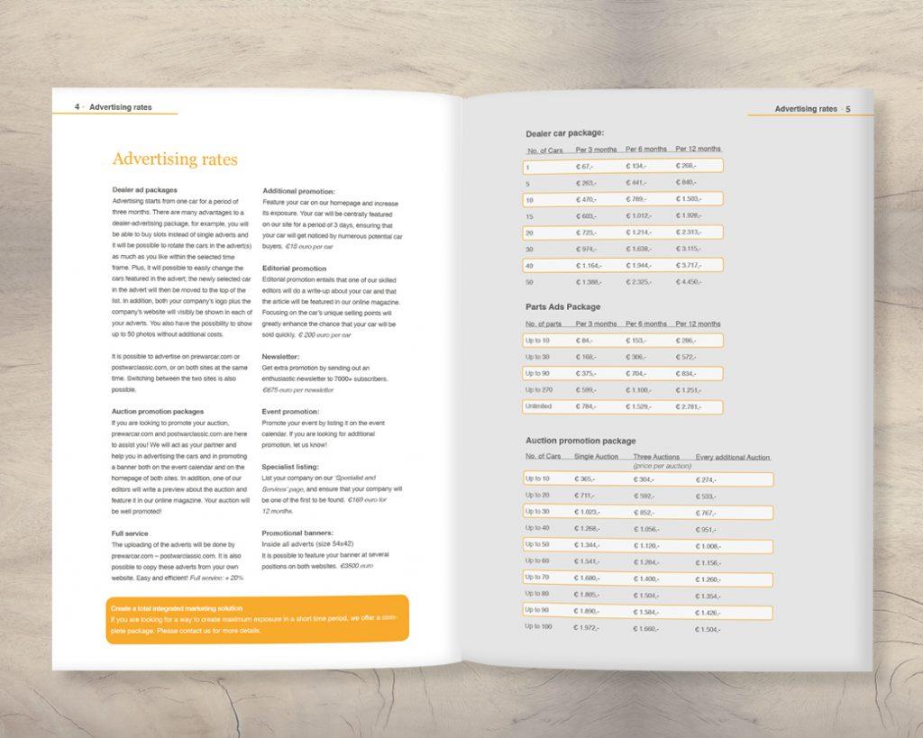 Brochure, portfolio, ontwerp